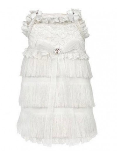 For Pets Only - white franje dress