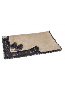 For Pets Only - Black lace dekentje