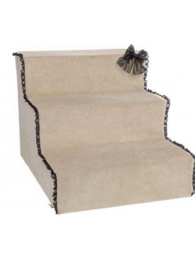 For Pets Only - beige trap met zwarte kant