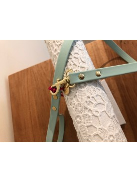 Charlotte's Dress - ponpon leash turquois